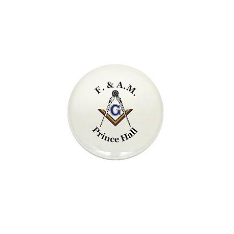 Prince Hall Square and Compass Mini Button (100 pa