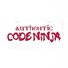 Authentic Code Ninja Aluminum License Plate