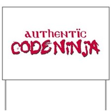Authentic Code Ninja Yard Sign