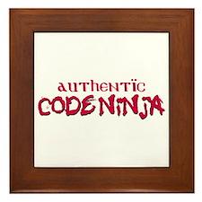 Authentic Code Ninja Framed Tile