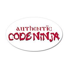 Authentic Code Ninja 38.5 x 24.5 Oval Wall Peel