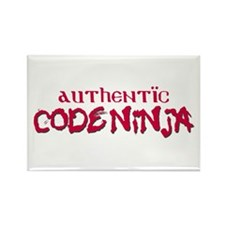 Authentic Code Ninja Rectangle Magnet