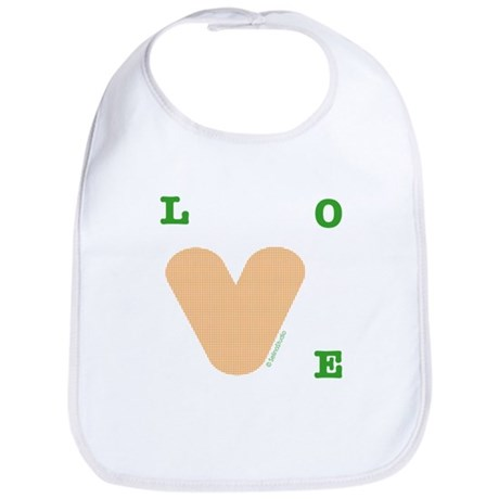 """orange Love"" Bib"