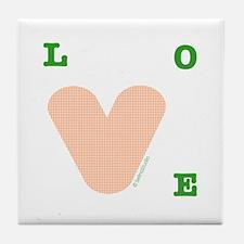"""orange Love"" Tile Coaster"