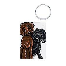 Chocolate n Black Doodle Keychains