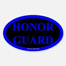Police Honor Guard Blue Os Decal