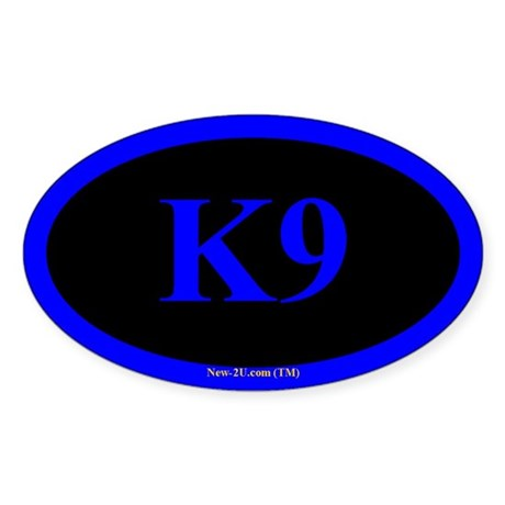 Police K9 Dog Blue Os Sticker