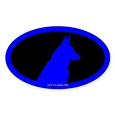 Police K9 Dog Head Blue Os Decal