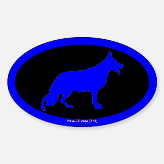 Police K9 Dog Blue Os Decal