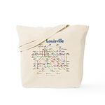 Louisville Transit Map tote bag