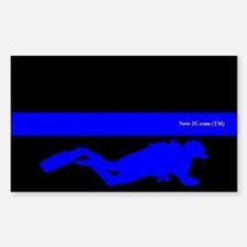 Police Diver Blue Rs Decal