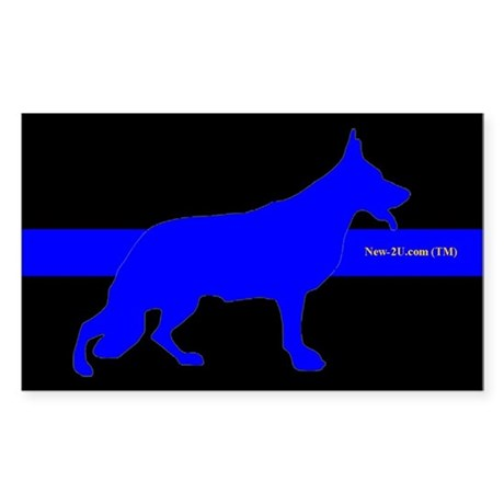 Police K9 Dog Blue Rs Sticker