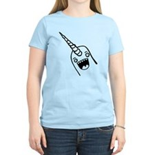 Happy Narwhal Black T-Shirt