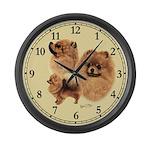 Pomeranian Large Wall Clock