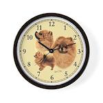 Pomeranian Wall Clock