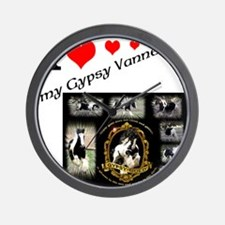 Unique Gypsy vanner horse Wall Clock