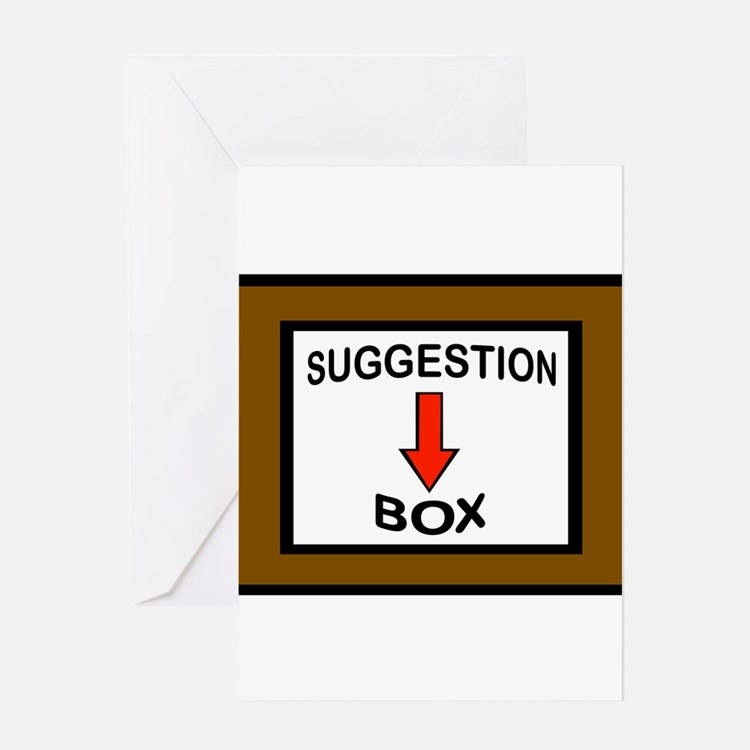 suggestion box greeting cards card ideas sayings designs templates. Black Bedroom Furniture Sets. Home Design Ideas