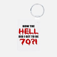 70th Birthday Gag Gift Keychains