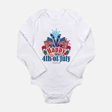 Happy 4th of July Long Sleeve Infant Bodysuit