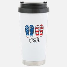 USA Flip Flops Stainless Steel Travel Mug