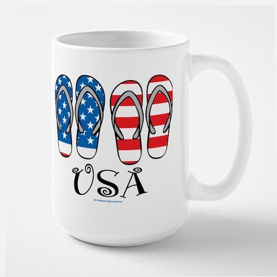USA Flip Flops Large Mug