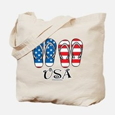 USA Flip Flops Tote Bag