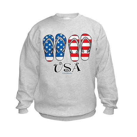USA Flip Flops Kids Sweatshirt