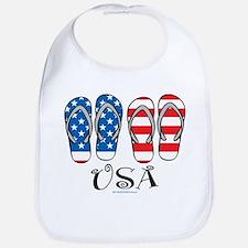USA Flip Flops Bib