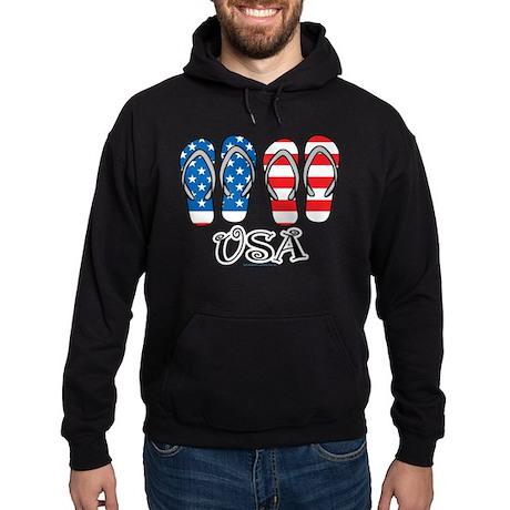 USA Flip Flops Hoodie (dark)
