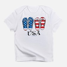 USA Flip Flops Infant T-Shirt