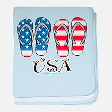 USA Flip Flops baby blanket
