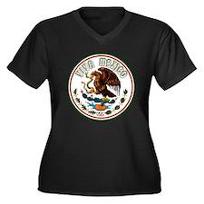 Funny Bicentenaria Women's Plus Size V-Neck Dark T-Shirt