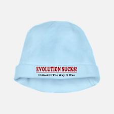 Evolution Sucks! baby hat