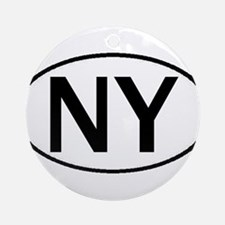 NEW YORK OVAL STICKERS & MORE Ornament (Round)