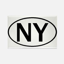 NEW YORK OVAL STICKERS & MORE Rectangle Magnet
