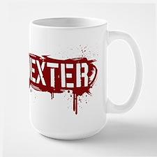 Dexter [grunge stencil] Large Mug
