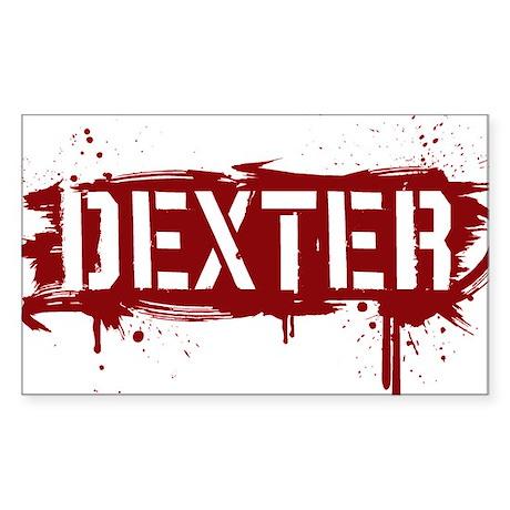 Dexter [grunge stencil] Sticker (Rectangle)
