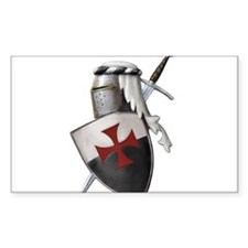 Templar shield with white top Decal