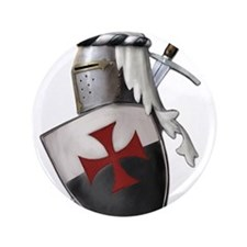 """Templar shield with white top 3.5"""" Button"""