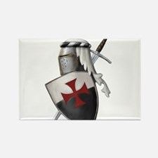 Templar shield with white top Rectangle Magnet