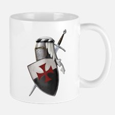 Templar shield with white top Mug