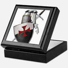 Templar shield with white top Keepsake Box