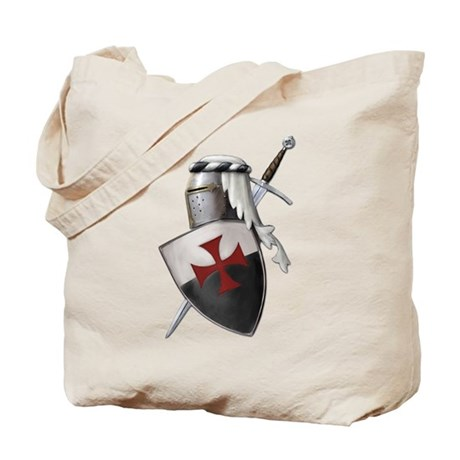 Templar shield with white top Tote Bag