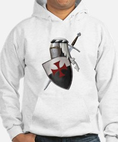 Templar shield with white top Hoodie