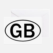GREAT BRITAIN OVAL STICKERS & Greeting Card