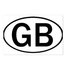 GREAT BRITAIN OVAL STICKERS & Postcards (Package o