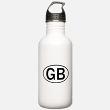 GREAT BRITAIN OVAL STICKERS & Water Bottle