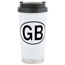 GREAT BRITAIN OVAL STICKERS & Travel Mug