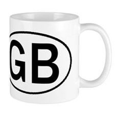 GREAT BRITAIN OVAL STICKERS & Mug