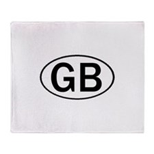 GREAT BRITAIN OVAL STICKERS & Throw Blanket